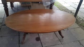 Round wooden coffee table for sale
