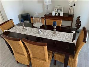 6 Seater Dining Room Table & Chairs