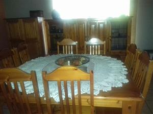 8 Seater wooden dining set for sale