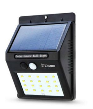 Solar Power Sensor Wall Light 20 LED Bright Wireless Security