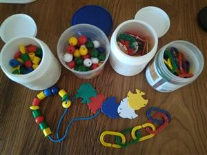 Set of 6 fine motor activities