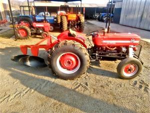 Massey Ferguson 135 with plough