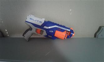 Nerf elite blue and white Disruptor with free Nerf elite Triad