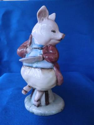 """Royal Albert - Beatrix Potter - """" Pigling Eats his Porrage """" 3252 pig"""