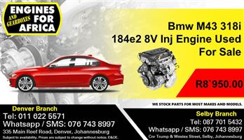 Bmw M43 318i 184e2 8V Inj Engine Used For Sale