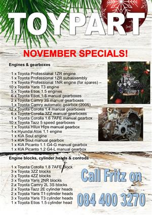 November specials - TOYPART SA