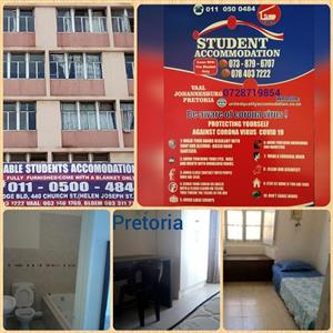 Student Accommodation Available for this year and next year in Pretoria