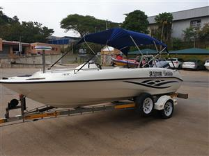 Sunseeker 170 on trailer 115 hp yamaha 97 hours