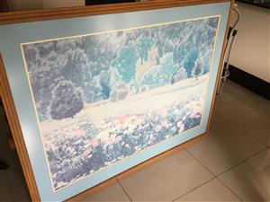 Large painting perfect for the home or office.