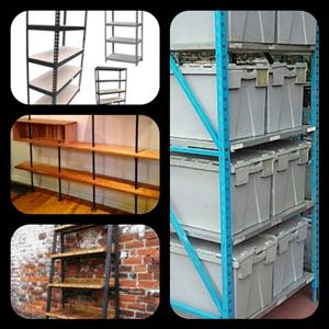 Light duty racking galvanised Powder coated 2.1m high x 700mm shelf depth x 880mm Shelf lenght and unit lenght 900mm