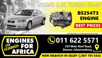Used Volvo B5254T3 2.5L Turbo 02-07 Engine FOR SALE