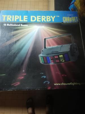 Triple derby disco light
