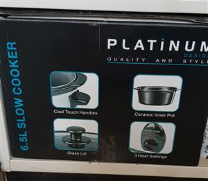 6.5Lt Platinum Design Slow Cooker