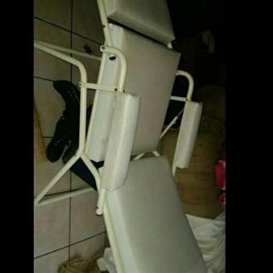 Reclining white beauty chair