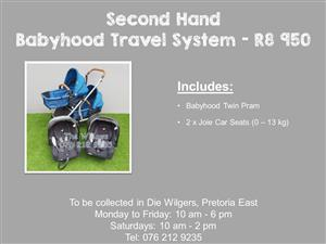 Second Hand Babyhood Travel System