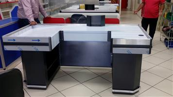 CUSTOM & STANDARD STAINLESS STEEL CHECKOUT COUNTERS (NEW & SECOND HAND)