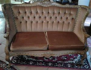 Louis XV style gold colour two seater Settee