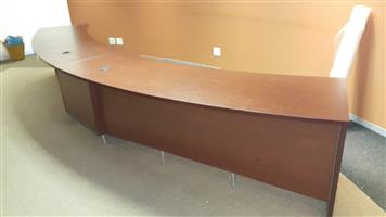 Mahogany finish reception desk