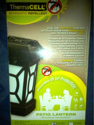 DUAL LIGHT & MOSQUITO REPELLENT -  NO ELECTRICITY REQUIRED