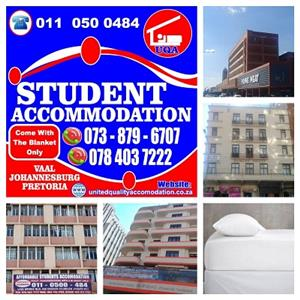 STUDENT ACCOMMODATION FOR THOSE WHO WILL BE STUDYING IN JHB, PTA & VAAL NEXT YEAR (2020).