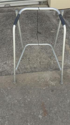 collapsible walker/zimmer frame. 2 available  both collapsable one heavy duty one standard.