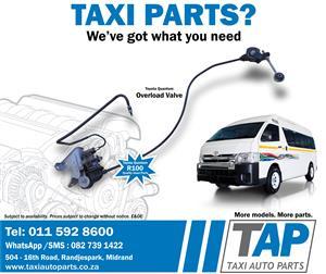 Toyota Quantum OVERLOAD VALVE - quality used taxi spares - Taxi Auto Parts TAP