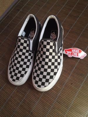 Vans Washed Checker Slip-On Black-White [Brand new UK size 9]