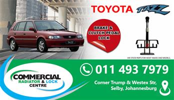 TOYOTA TAZZ BRAKE & CLUTCH PEDAL LOCK