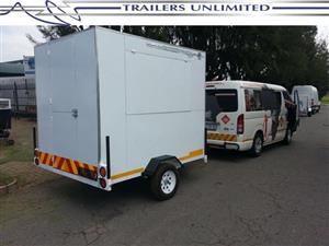 TRAILERS UNLIMITED VENDING TRAILER 2400 X 1800 X 2000.