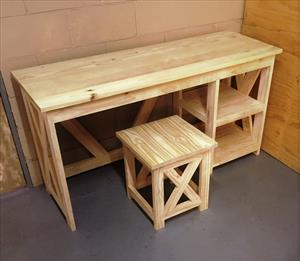 Study desk Cottage series 1450 combo Raw