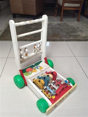 Musical Toddler Push cart/walker - great for gross motor skill development