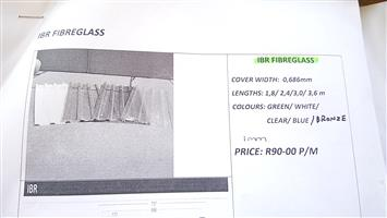 IBR Fibreglass, IBR Corrucated Fibreglass,IBR  Polycarbonate,GRECA POLYCARBONATE, Corrugated polycarbonate, Polycarbonate Big 6, Kliplock Polycarbonate,Nurib polycarbonate
