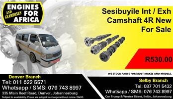 Sesibuyile Int / Exh Camshaft 4R New For Sale.