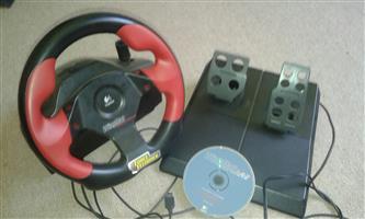 Logitech Wingman Formula Force GP steering wheel & pedals