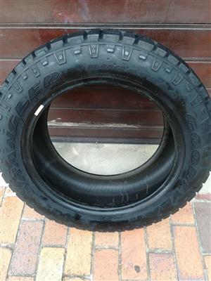 One 95% Tread 255/55/19 Goodyear Duratrac Tyre R1000