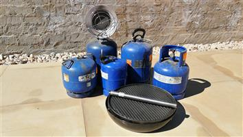 5 x Gas bottles with some extras