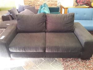 Black 2 Seater Modern Couch