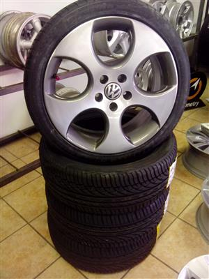 VW Audi Golf 18 inch 5x112 with brand new 225/40/18 R9000.