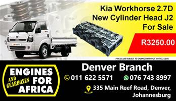 New Kia Workhorse 2.7D  Cylinder Head J2 for sale at Engines for Africa