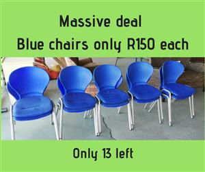 13 Blue chairs