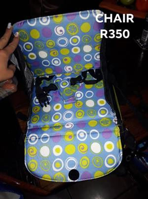 Multi colored circular pattern chair