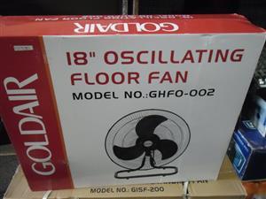 GOLDAIR 18'' OSCILLATING FLOOR FAN NEW