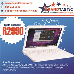 Incredible Apple Macbook Laptop & Charger @ R2990