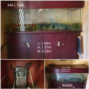 Fish Tank, with Accessories and pump