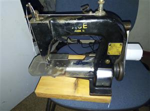 The Ace make 2 Old antique Willcox and Gibbs chain-stitch sewing machine, working.