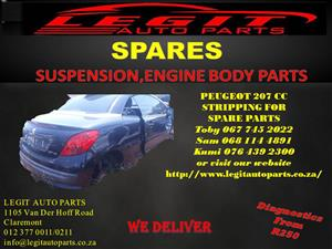 PEUGEOT 207CC STRIPPING FOR SPARE PARTS