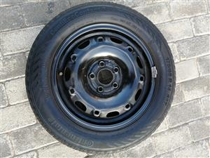 14 INCH VW RIM WITH TYRE