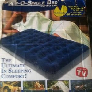 Inflatable single bed mattress - brand new