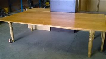 10 to 12 Seater Genuine Oak Boardroom/Dinningroom Table with Table Tennis board on flip side - R5500