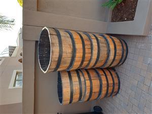 Wine Barrel pots